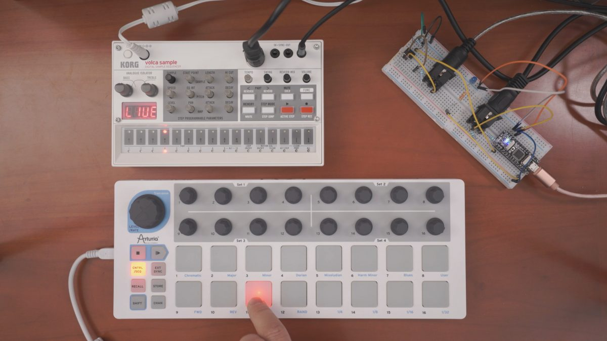 Volca Sample MIDI Mapper using Arduino