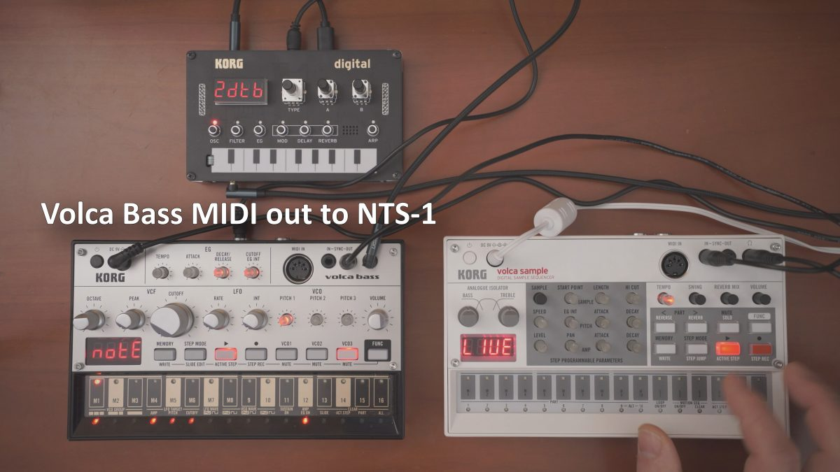Volca Bass MIDI Out to NTS-1 sequencing idea
