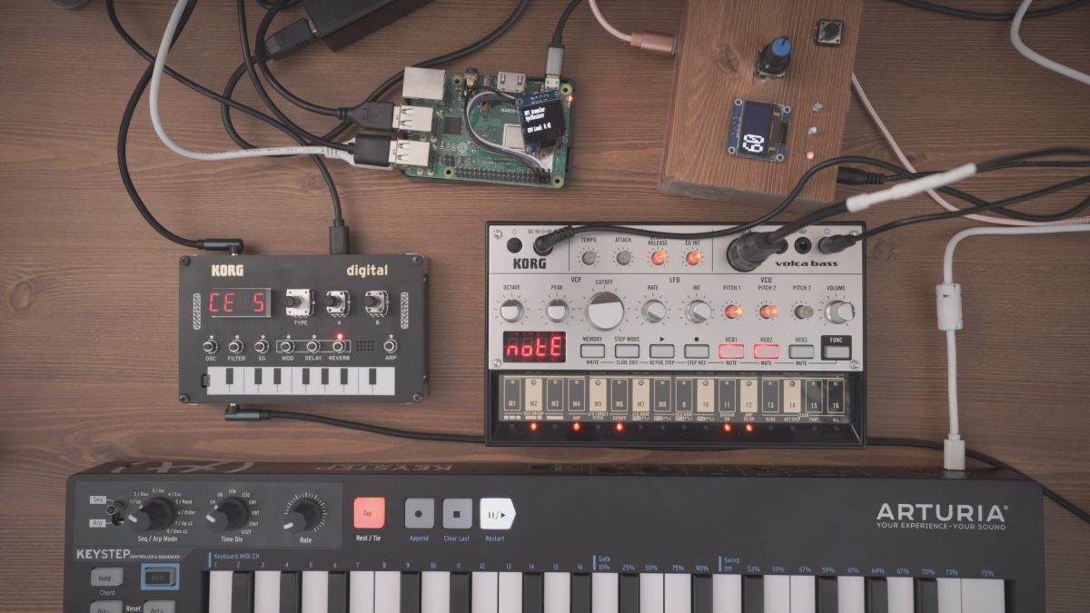 illusion – Ambient sound from Pi Granular Synth (Pure Data), Arduino, Volca Bass, NTS-1