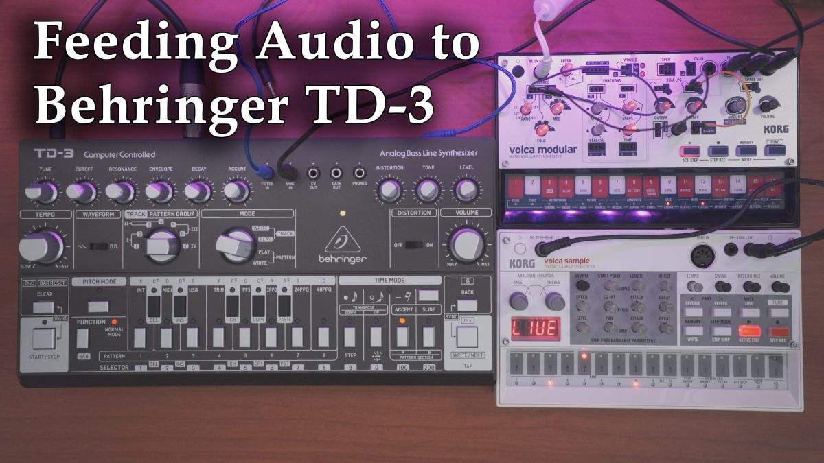 Feeding Audio to Behringer TD-3