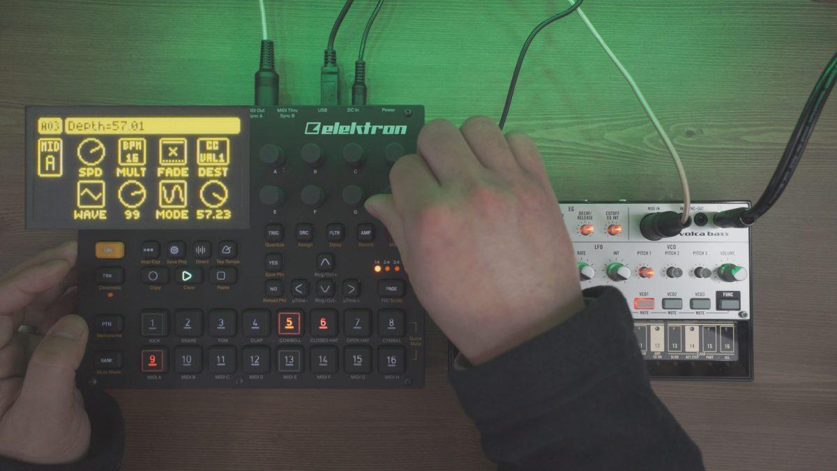 Digitakt + Volca Bass | Simple LFO Trick