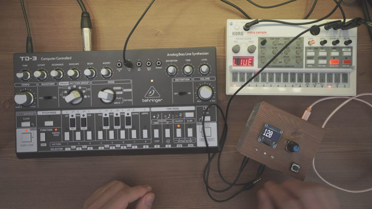 Behringer TD-3 + Arduino – LFO Modulation Testing