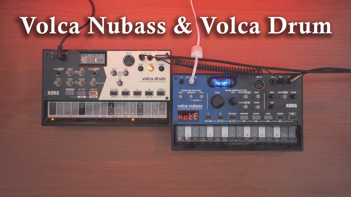 Volca NuBass & Volca Drum // 30min Random Jam