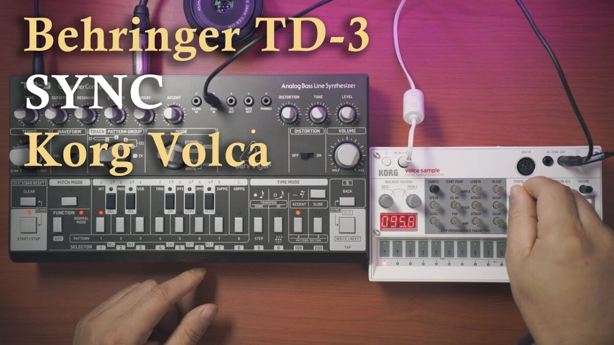 How to sync TD-3 to Volca using a TS/TRS cable