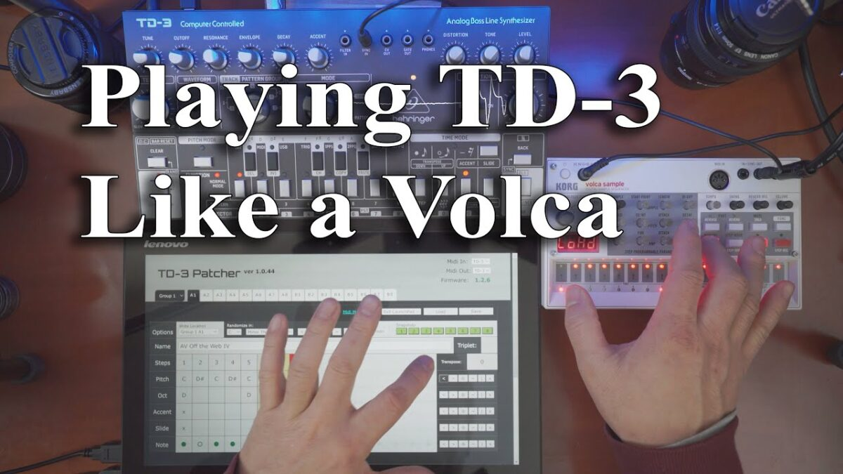 Playing TD-3 Like a Volca